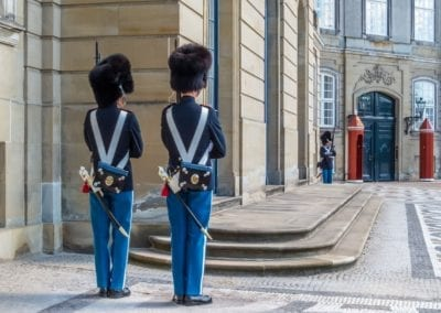 Changing of the Royal Guard in Amalienborg Palace - Residence of the Danish royal family