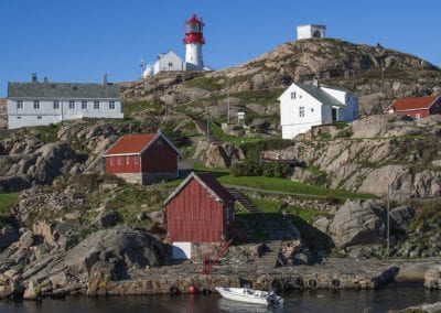 Lighthouse Lindesnes. Norway.